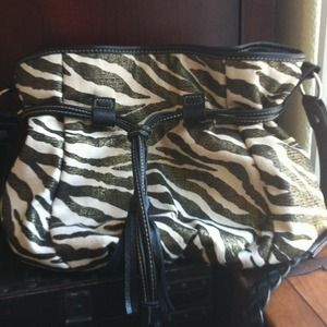 Handbags - Like New Zebra Print Crossbody