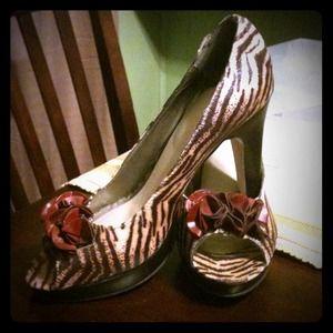 Shoes - Animal print platform shoes