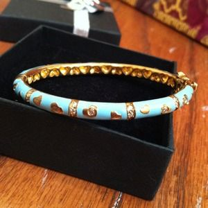 Other - Turquoise and gold plated heart and cx bangle