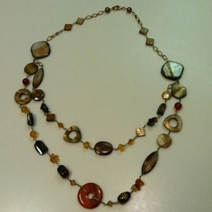Jewelry - NEW Gorgeous Beaded Double Strand Necklace Earthy