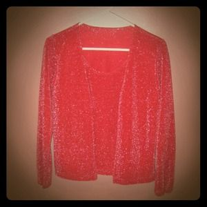 Tops - Red Sparkly Top - Holiday Party Top