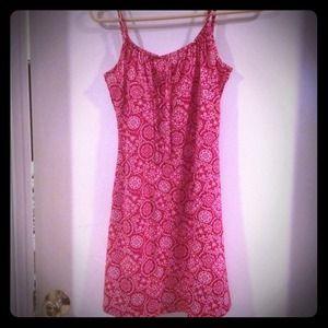 Red Handkerchief print shift dress