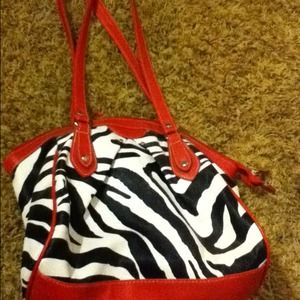 Handbags - Pink zebra purse
