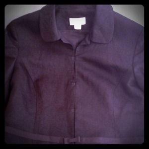 LOFT Jackets & Blazers - Ann Taylor Loft Blazer Lightweight Black Linen