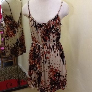 Dresses & Skirts - RESERVED NWT Animal inspired Rust Spot Tank Dress