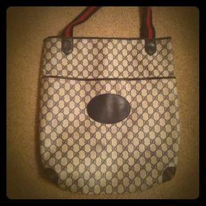 Vintage gucci monogrammed purse!!