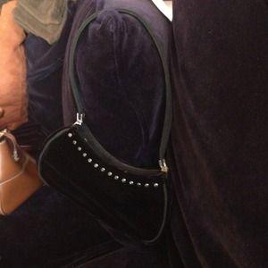 Handbags - Black velvet tiny bag