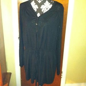 Sheer black tunic/cover up
