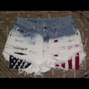 Fourth of July Vintage High Waisted Shorts