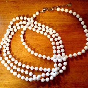 Claire's Jewelry - 2 white beaded necklaces