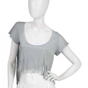 Seneca rising Fringed Crop Top