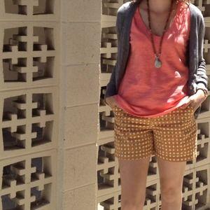 Shorts - Printed Caramel Shorts