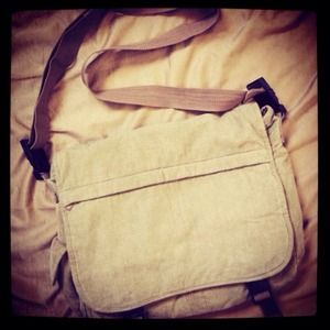 Handbags - Tan corduroy messenger bag