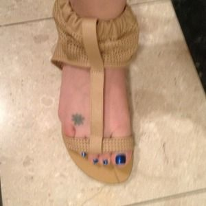 Shoes - BRAND NEW LEATHER Sandals! - NEVER WORN!