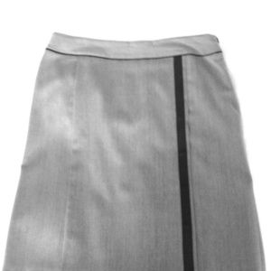 Les Copains skirt with brown leather detail