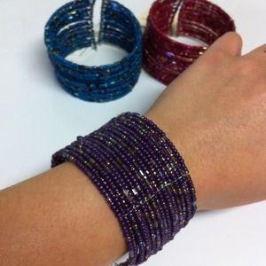Jewelry - 💜Beaded Cuff💜