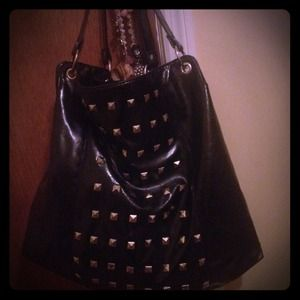 Handbags - Black bag with gold studs