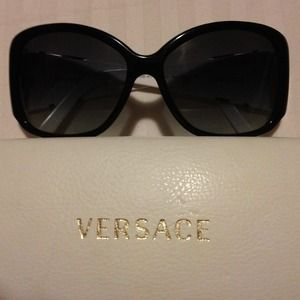 Black and white Versace sunglasses