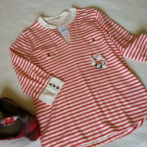 J. Crew Tops - RESERVED Bundle! NWT JCrew Stripe Top & Belt