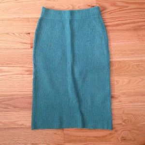 Romwe Skirts - Mint knit pencil skirt