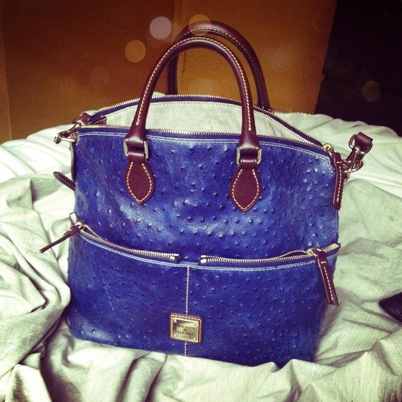 37% off Dooney & Bourke Handbags - Dooney & Bourke blue ostrich ...