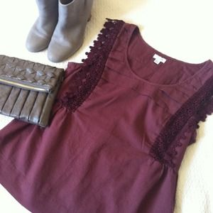 Odille Tops - Adorable Odille Burgundy Top