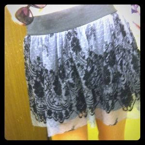 Wet Seal Dresses & Skirts - High waisted black and grey skirt