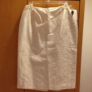Tahari silk skirt