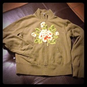 🎉HP 12/7 🎉 Lucky Brand Floral Embroidered Hoodie