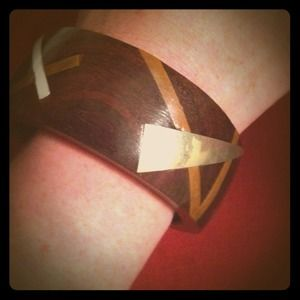 vintage Jewelry - Vintage wood bangle