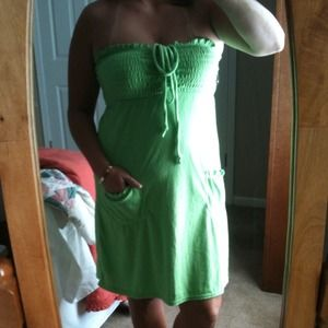 Dresses & Skirts - NWT lime green cover up