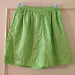 Women's small lime athletic shorts, with pockets