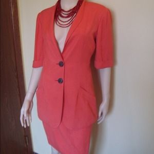 """VNTG """"KRIZIA"""" 2pc Silk Suit. Made in Italy.REDUCED"""