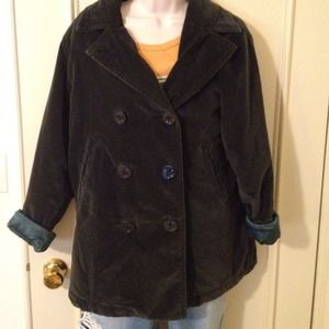 Abercrombie & Fitch Jackets & Blazers - Abercrombie hunter green velour peacoat, sz sm-med