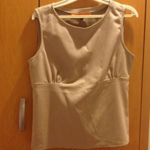Faux suede tank top
