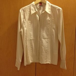 Tops - Beige button blouse