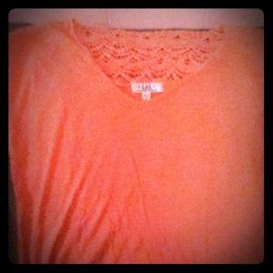 Pink v neck with lace back