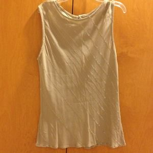 Tops - Taupe sequined tank