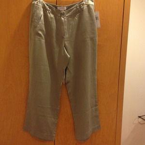 Calvin Klein silk capri pants