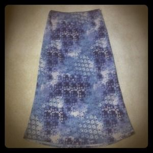 Dresses & Skirts - Blue floral skirt