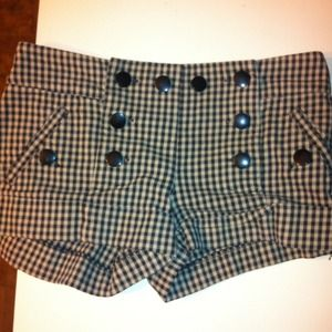 Topshop Checkered Shorts