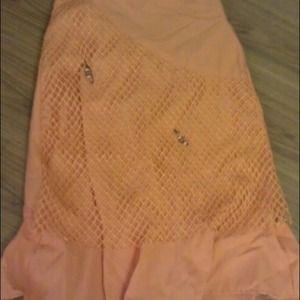 An orange boho skirt