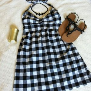 Dresses & Skirts - Black & White Checked Summer Dress