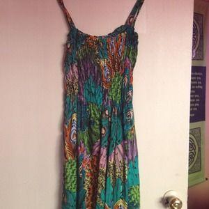 Micheal F. Dresses & Skirts - ☀🌸Tropic floral dress!🌸🌺🐚