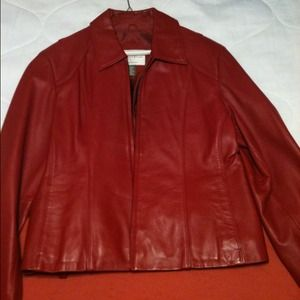 Jackets & Blazers - Red leather jacket