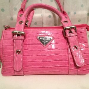 prada suede bag - prada pink purse
