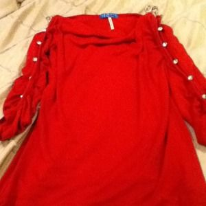 Dresses & Skirts - 3/4 sleeve red dress