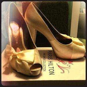Shoes - Paris Hilton Destiny pumps (ivory satin)