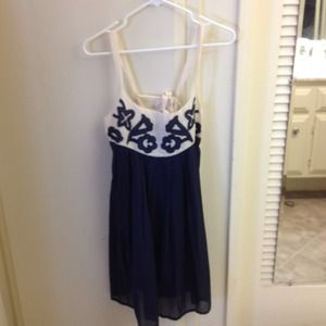 Dresses & Skirts - Brand new navy and cream Summer dress
