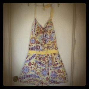 3/$20🔥 Yellow print halter dress.